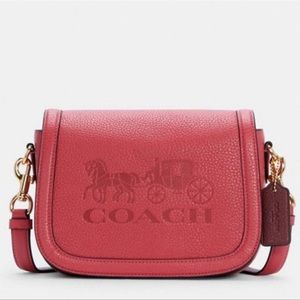 Coach Saddle Bag With Horse And Carriage